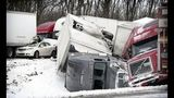 3 die in Pa. 50-car pileup on snowy interstate