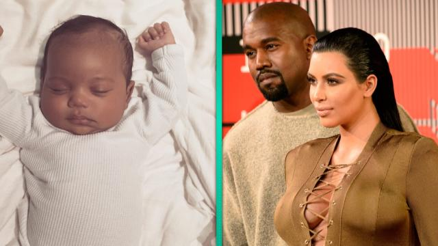 Kim pays tribute to father with first photo of Saint West