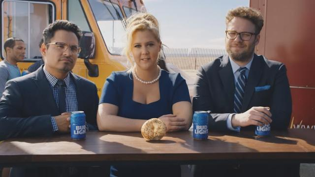 Exclusive Amy Schumer And Seth Rogen Return In New Bud Light Ad For A Delicious Lesson In Diversity Kare11 Com