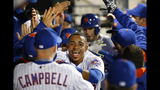 Cespedes returns from bruised thigh, back in Mets' lineup