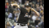 Marlins lefty Conley has no-hitter thru 6 innings vs Brewers