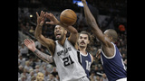 Aldridge has 38 points, Spurs rout Thunder 124-92 in Game 1