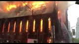 Massive fire engulfs 160-year-old church in New York City