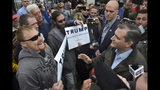 Cruz tells protester: 'Trump is taking advantage of you'