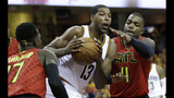Tristan Thompson loves to beat up on the Hawks