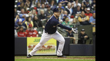 Nelson's pitching, hitting lead Brewers past Angels 8-5