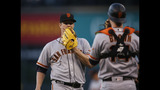 Cain leaves early as Giants lose 5-2 to Rockies