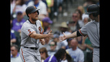 Pence has 3 of Giants' 8 doubles in 8-3 win over Rockies