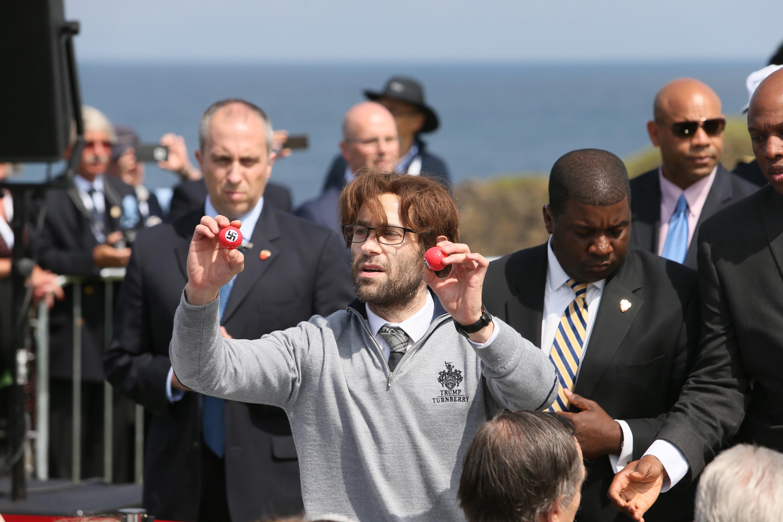 protester pranks trump with nazi golf balls in scotland