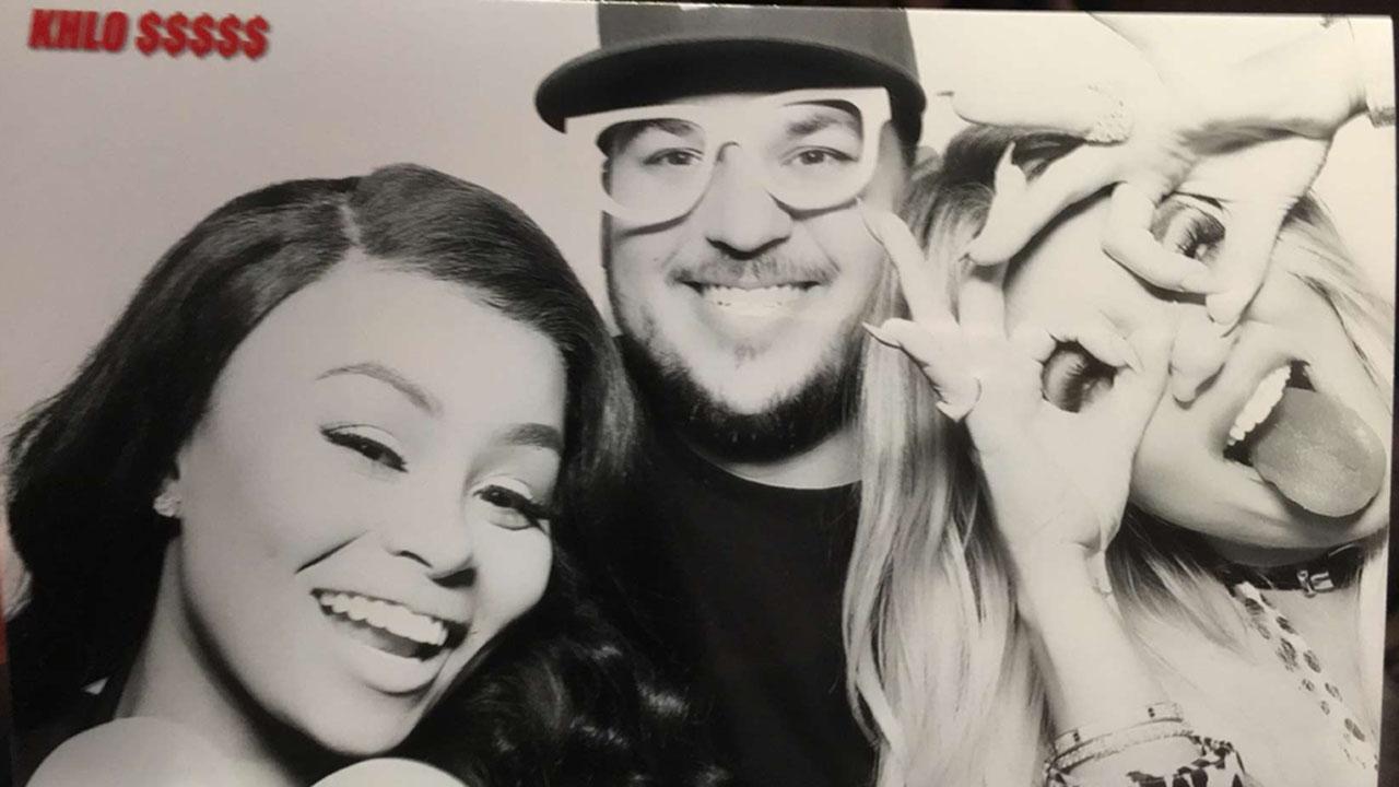 blac chyna, rob kardashian snap selfies with kim kardashian, kylie