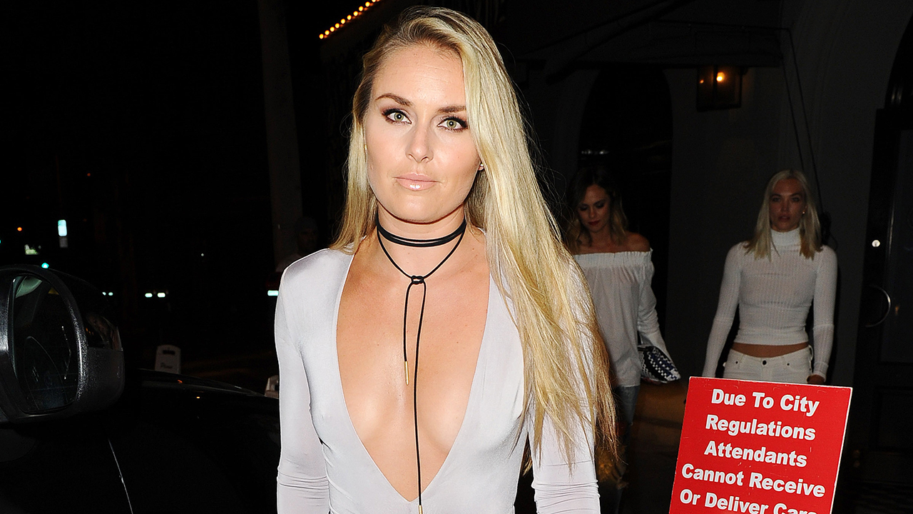 Lindsey Vonn Shows Major Cleavage In Skin Tight Bodysuit Looks Completely Different See The