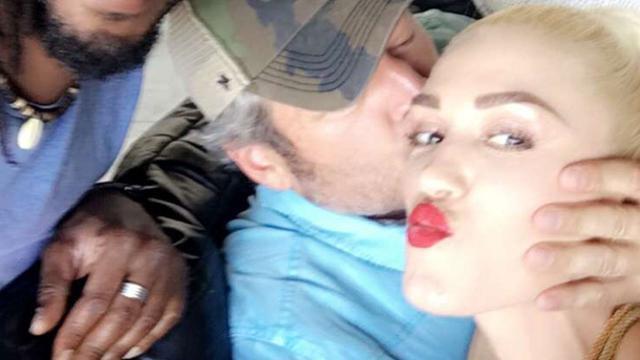 Gwen Stefani Gets an Adorable Smooch From Blake Shelton at Her Son Zuma's Birthday Bash | KARE11.com